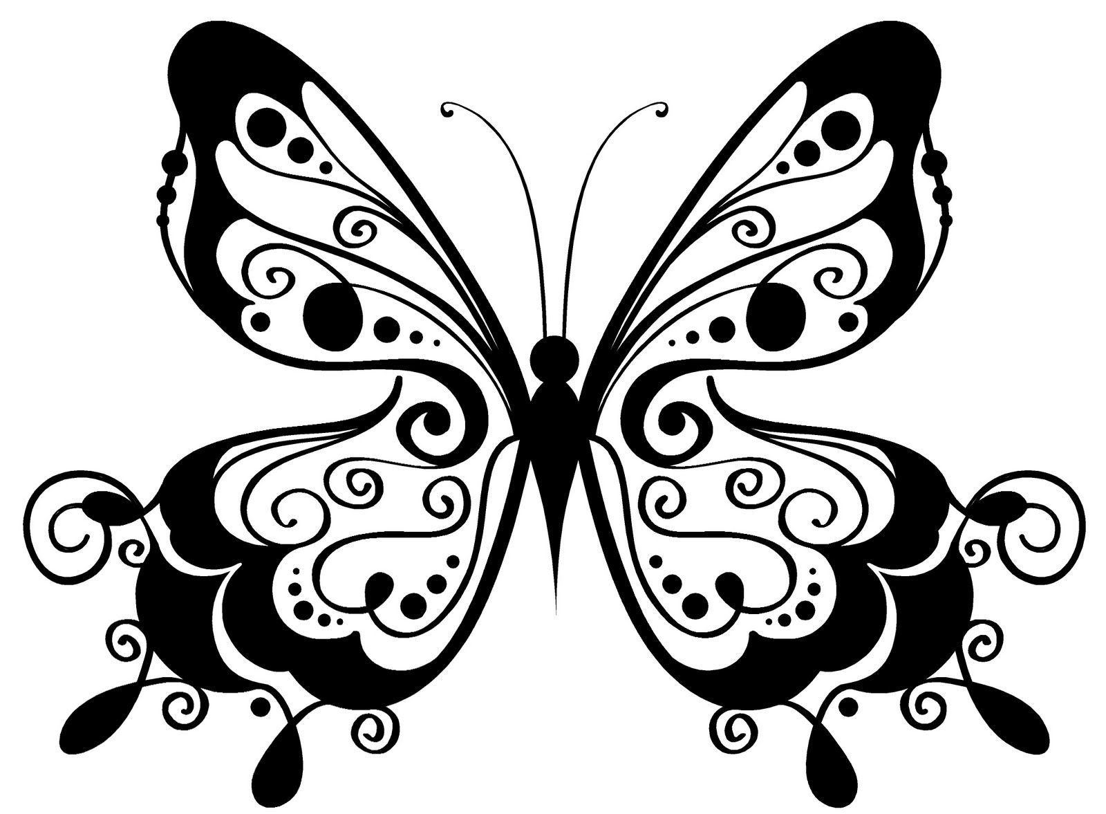 mariposa para color  Butterfly  Pinterest  Stenciling and Butterfly