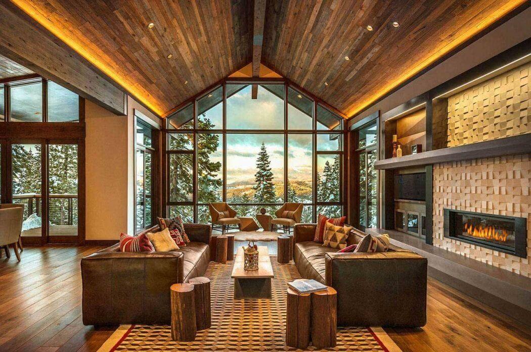Beautiful Ski Lodge By Aspen Leaf Interiors