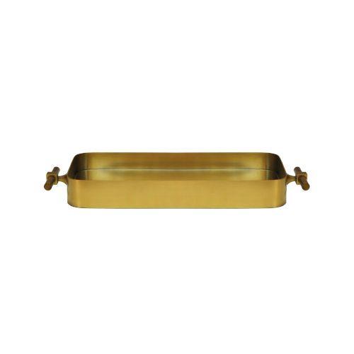 Antique Brass 25-Inch Tray - One Year Limited Manufacturer Warranty Worlds Away - KLEIN BR | Worlds Away KLEIN BR 25 in. Tray in Antique Brass, Contemporary & Modern | Bellacor