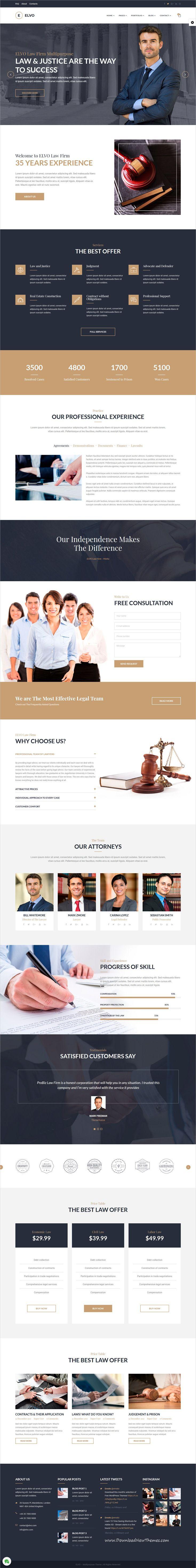 Elvo  Business Multipurpose Joomla Template  Law Firm Website