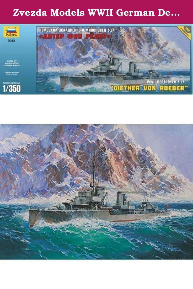 Zvezda Models WWII German Destroyer Z-17 Model Kit [parallel import goods]. It's shipped off from Japan.