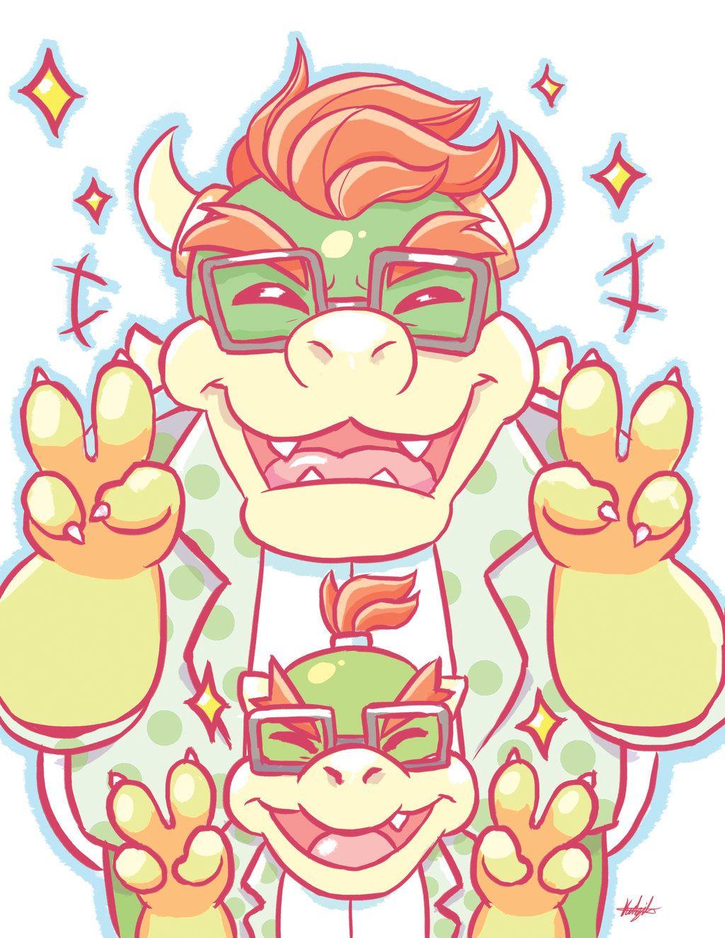 Nintendo: Megane Bowser + Bowser Jr. by SugarKills.deviantart.com on ...