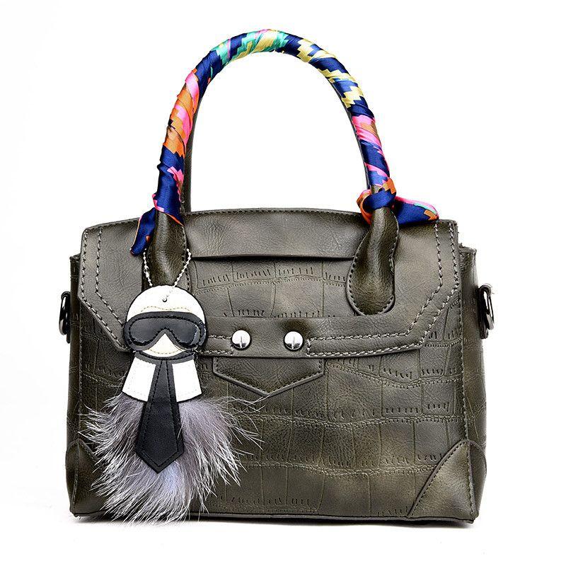 Famous Designer High Quality Girls Women Leather Famous Brand Crossbody  Shoulder Bag Shop online Handbags with Fur Scarlf N481  handbags  bag  YLEY   L09582 ... 816d89ba6a738