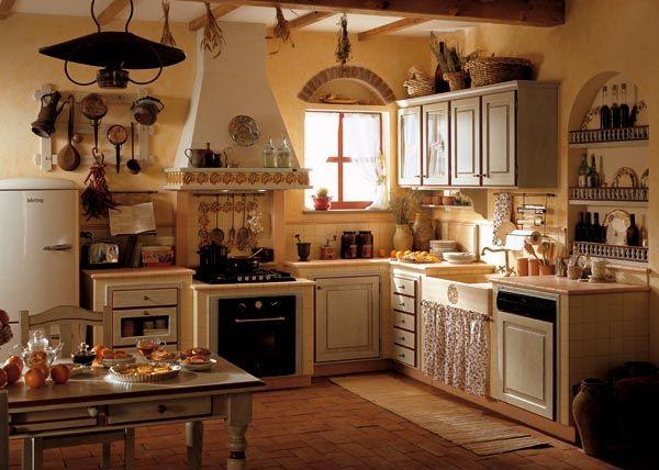 Toscano pennellato cucine classiche idee cucina pinterest arredamento toscano cucine e - Arredamento cucine rustiche ...