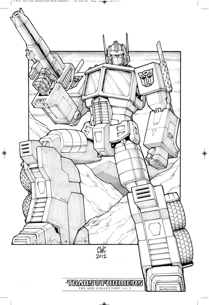 Kleurplaten Transformers Optimus Prime.Idw Limited Collection Artwork Optimus Prime By Caliber316 On