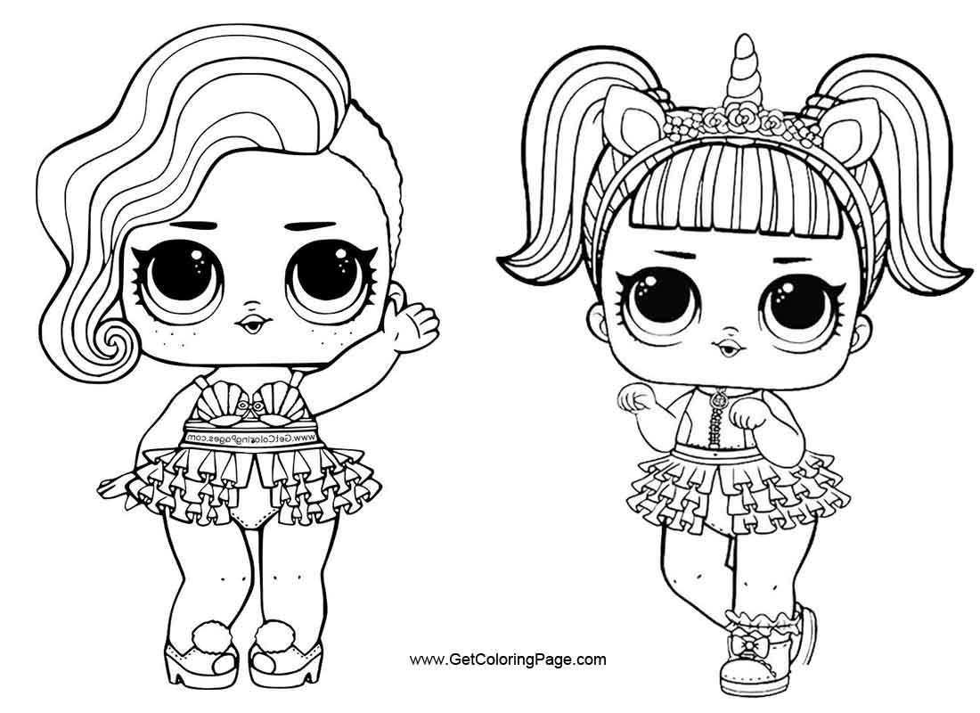 lol doll coloring pages Google Search Lol dolls