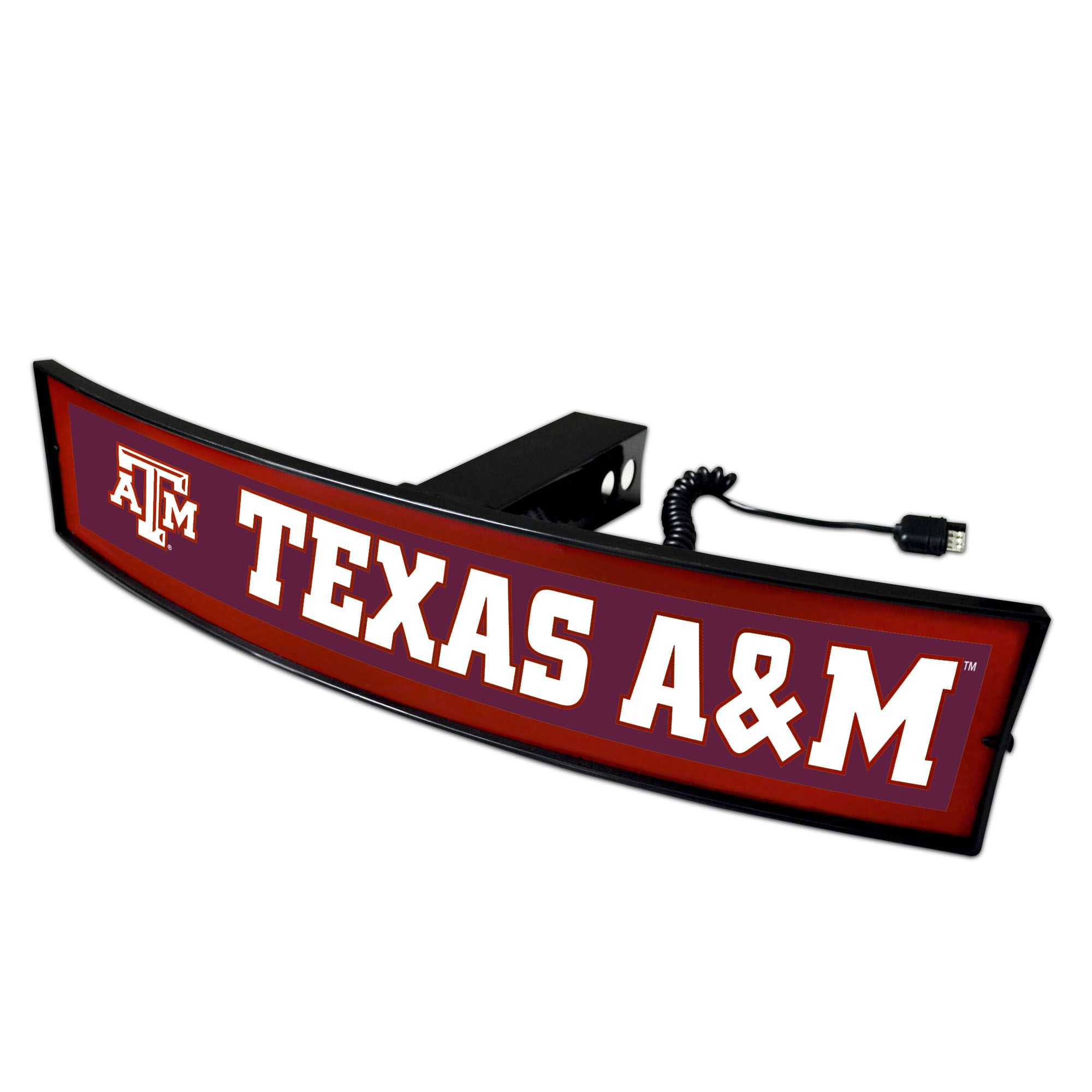 """NCAA Aggies Light Up Hitch Cover 21""""x9.5"""" 32845850"""