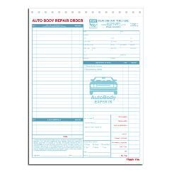 Auto Body Repair Orders   Business Forms