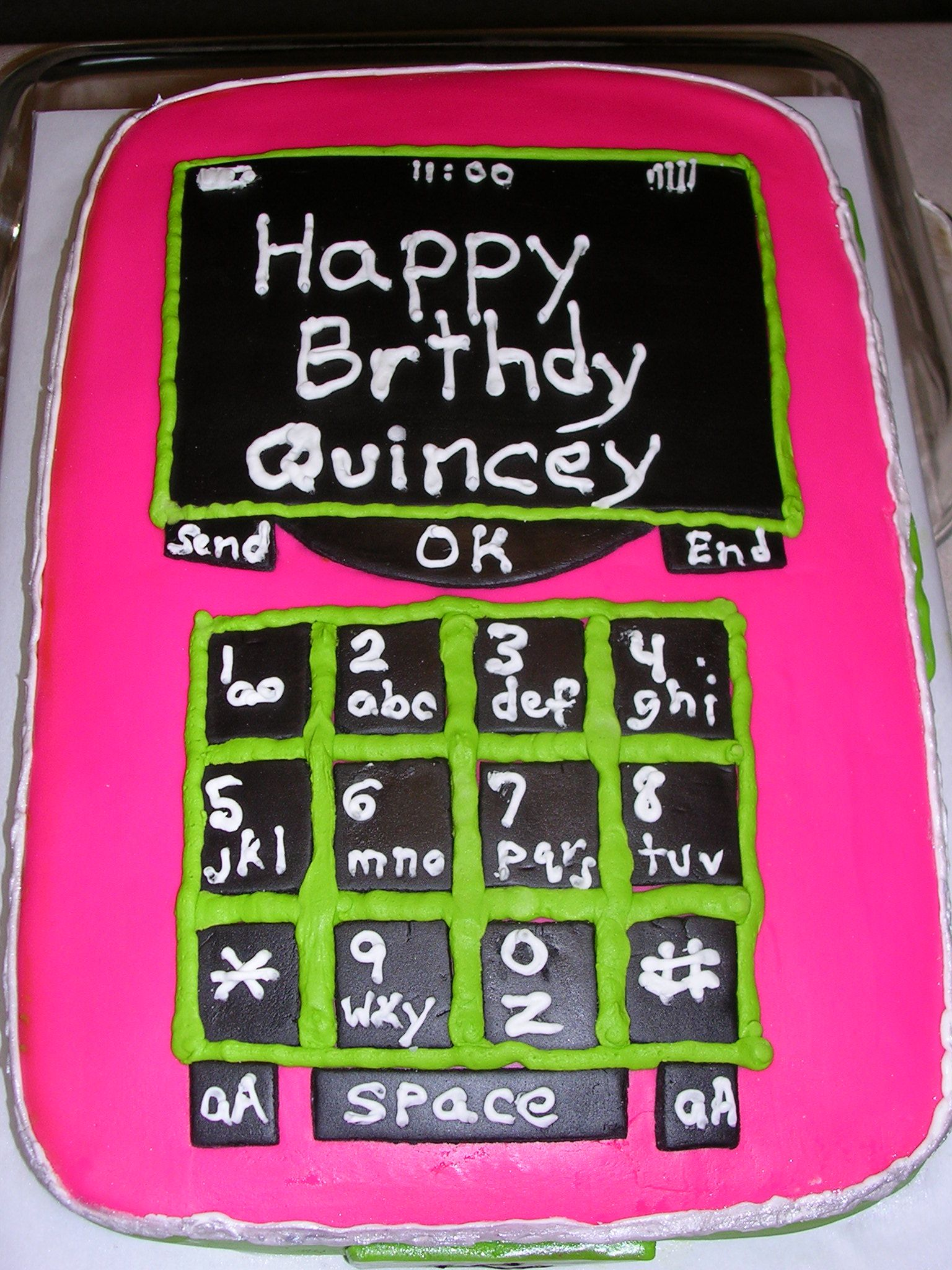 Cell Phone Cake Decorated In Fondant And Royal Icing Cake
