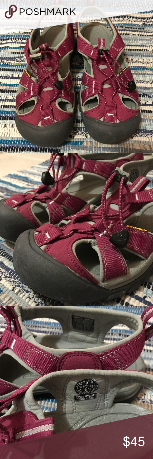 c4af4f5fe6da Keen Venice H2 in Beet Red and Neutral Gray Keen Women s Venice H2 sandal  in excellent used condition. Color is beet red and neutral gray.