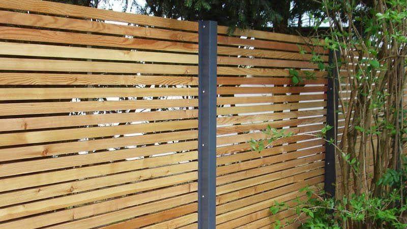 Sichtschutzzaun Holz Larche Metall Anthrazit Modern Stahlzart Sichtschutzzaun Holz Sichtschutzzaun Zaune Holz