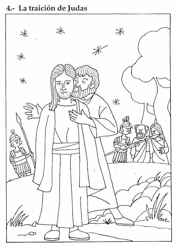 Pinto Dibujos: Traición de Judas para colorear | coloring pages ...