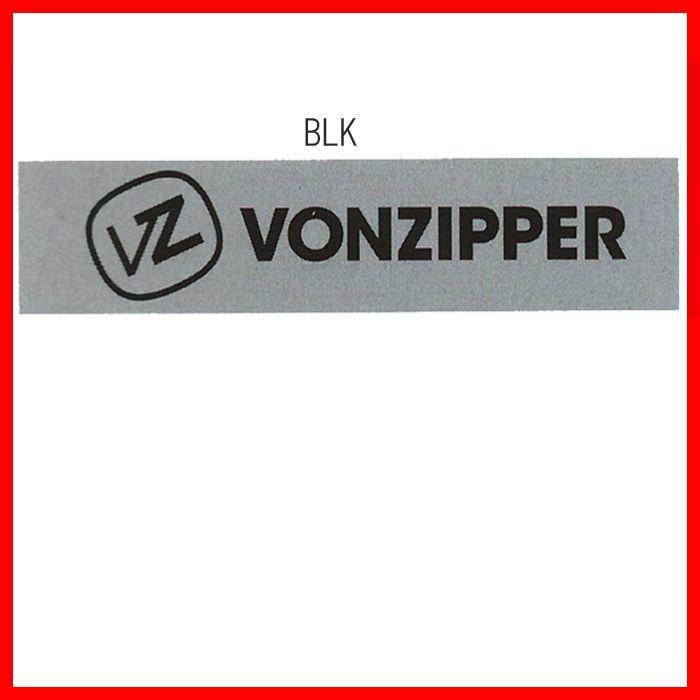 メルカリ商品 ボンジッパー(VonZipper)カッティングロゴマークステッカーBLK メルカリ