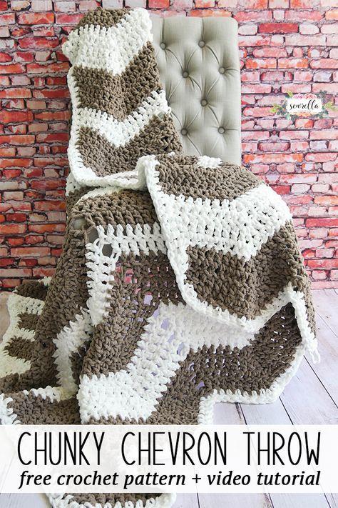 Farmhouse Ripple Throw Free Pattern Crochet And Tutorials