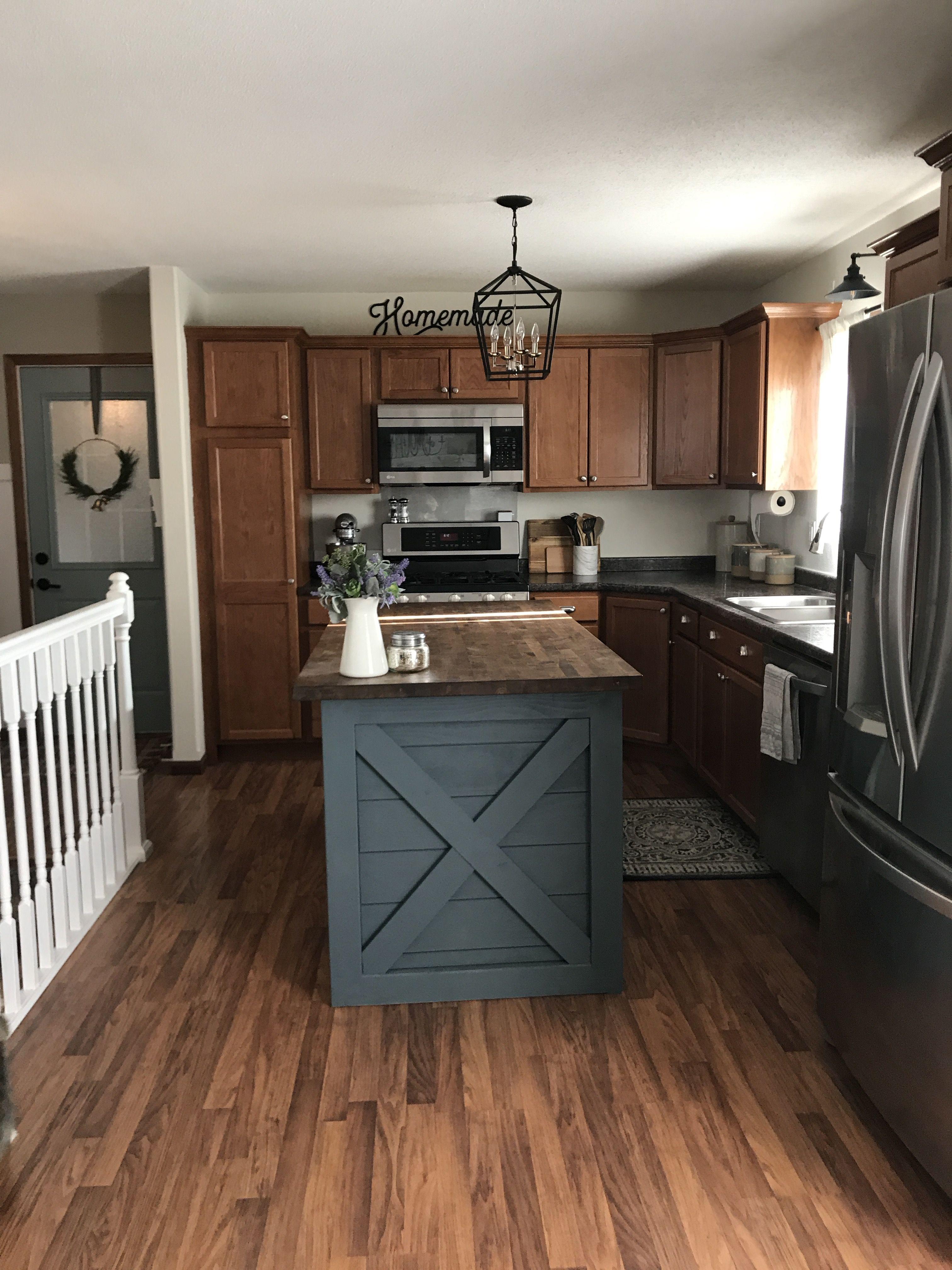 Kitchen Island Diy Slate Tile By