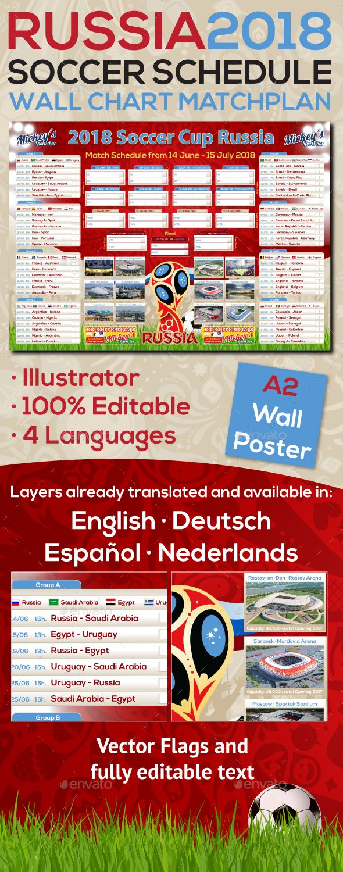 Matchplan  Russia Soccer Poster  Soccer Poster Flyer