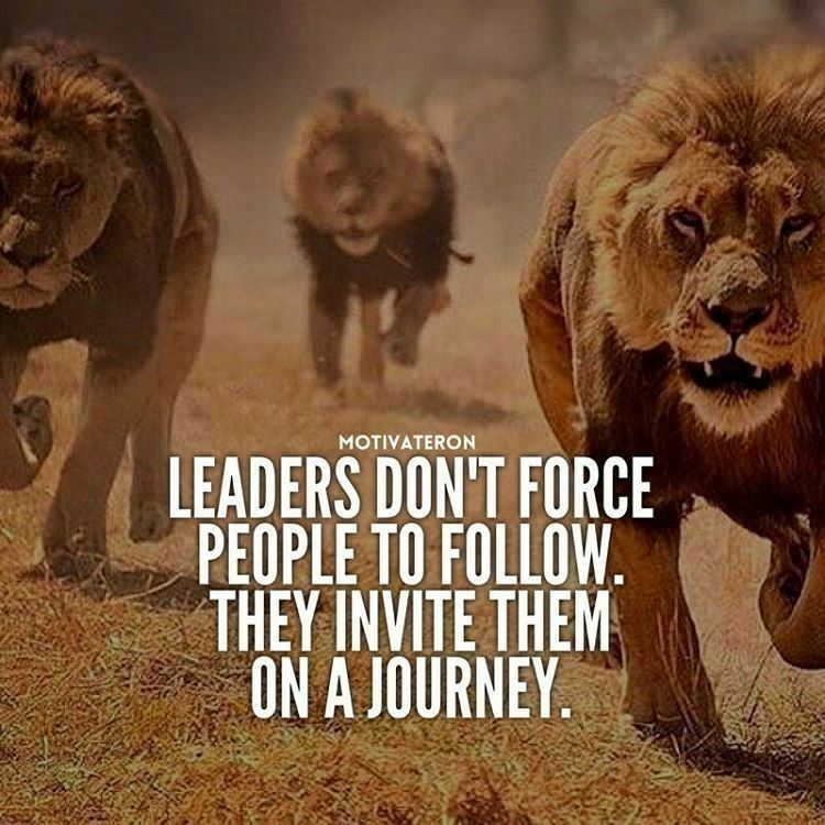 "What do you know, I've been a leader all along then lol. Sadly no one has wanted to come on my.journey with me tho :( lol. Like Russ says, ""fuck it, I'll do it myself"" http://www.loaspower.com/self-esteem-is-your-stepping-stone/"
