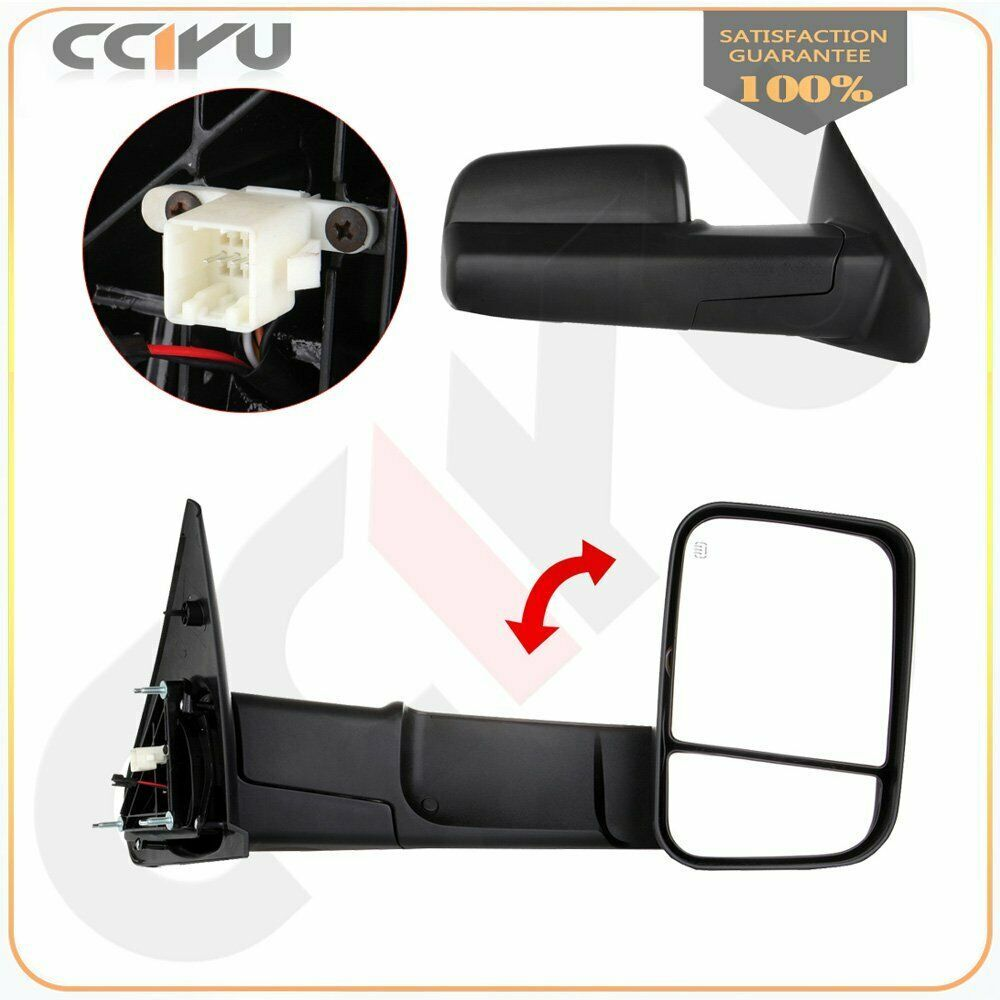 Sponsored Ebay Towing Mirrors For 02 08 Ram 1500 03 09 2500 3500 Power Heated Side View Pair With Images Towing Mirrors Towing Mirror Ram 1500