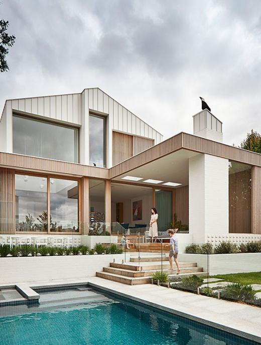 A Voluminous, Contemporary Home Behind A Modest Heritage Facade