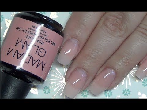 Gel Nails With Natural Tips Full Tutorial Soakable Builder Beanana711 You