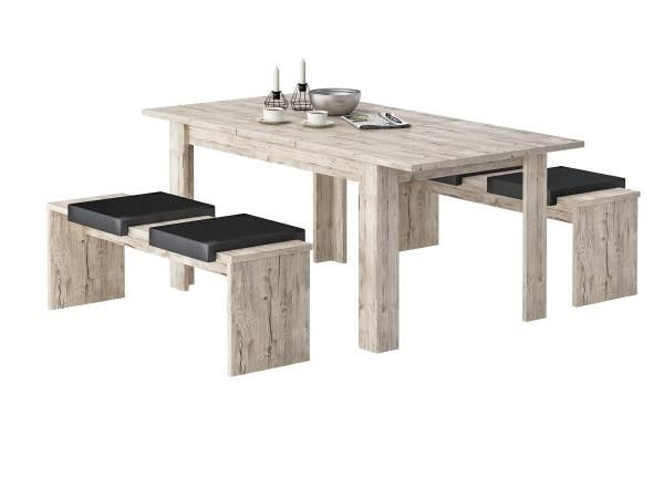 Tischgruppe Sylt Sherwood Nachbildung ca. 140 cm