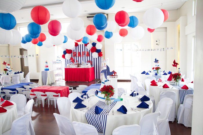 Red White Blue Nautical Birthday Party Red Party Themes