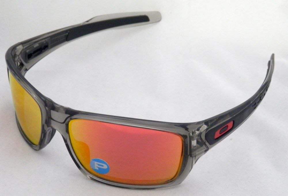 4ba8ef7de5 eBay  Sponsored NEW OAKLEY TURBINE OO9263-10 IN GREY SMOKE WITH RUBY  IRIDIUM POLARIZED LENS