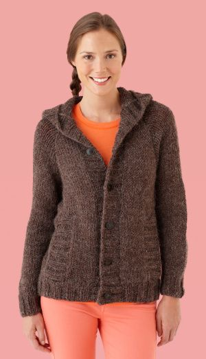 Hooded Cardigan...funny...I have this 75% completed but am totally ...