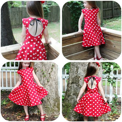 Juliette's Dress sewing pattern for girls by Lily Bird Studio | Go To Patterns