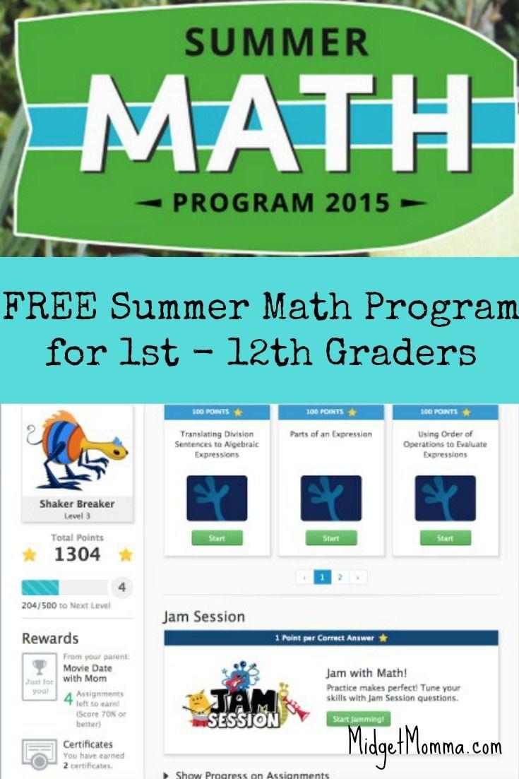 Free Online Summer Math Program   Math, Learn math online and Learn math