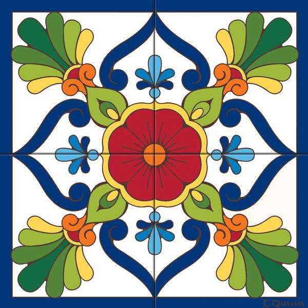 Tile Mural Traditional Talavera #audiovideo
