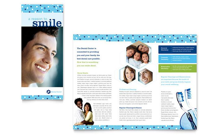 Click to download a full-size preview PDF Dentist Office - microsoft tri fold brochure template free