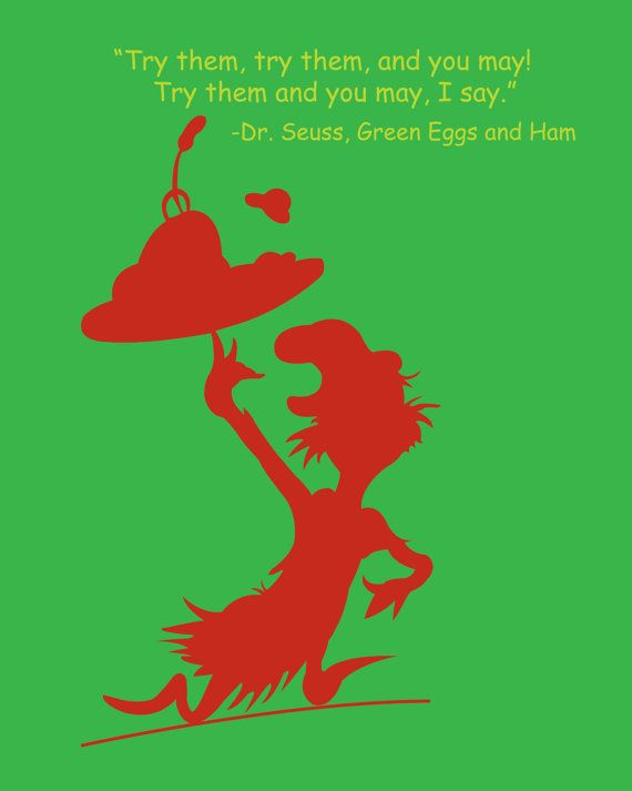 Dr. Seuss Green Eggs and Ham Quote Silhouette | Art | Pinterest ...