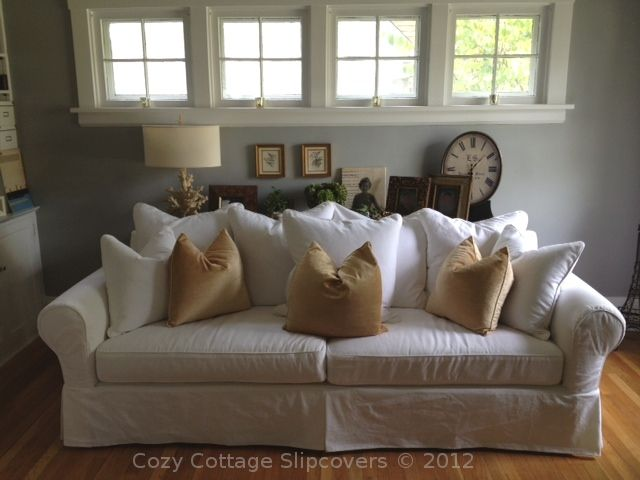 Pillow Back Sofa Slipcover Slipcovered Sofa Sofa Home Living Room