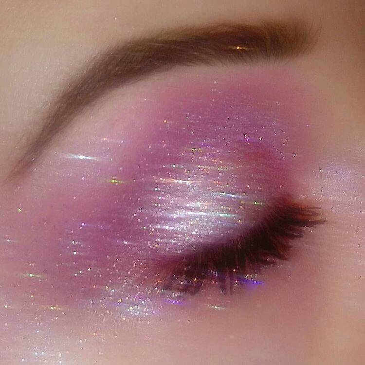 Lips Eyes Aesthetic Blue Brown Green Makeup Glitter Soft Pretty