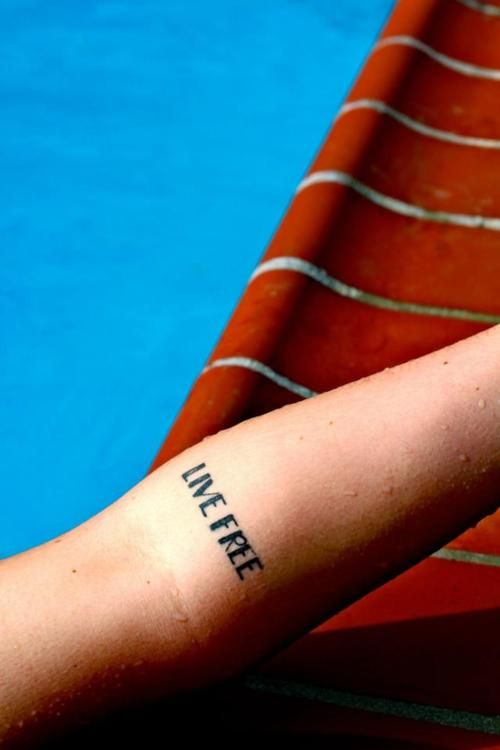 Live Free Except I Want Either As White Ink Knuckle Tats Or A Word On Each Wrist