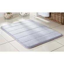 Tapete de Banheiro Super Soft Microfibra 60x40, Antiderrapante Com Enchimento Viscoelástico Lilás 2824 - Camesa