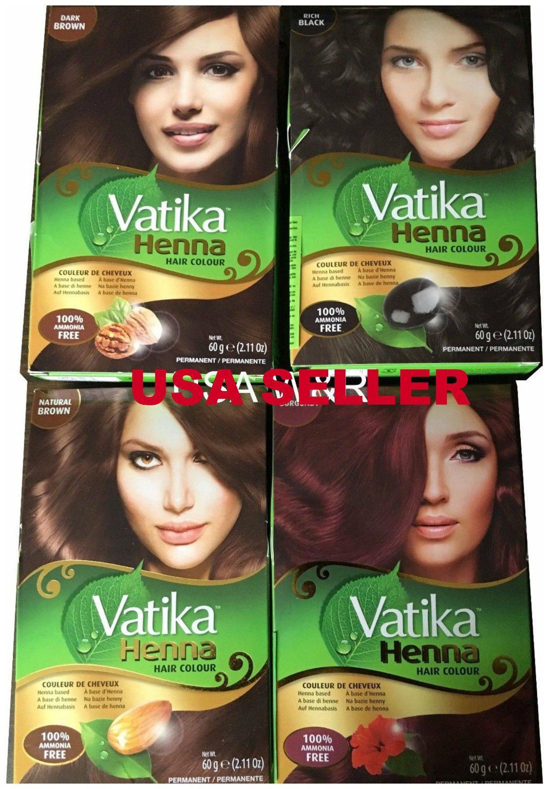 Dabur Vatika Henna Powder Best Hair Color Choose Your Color Usa