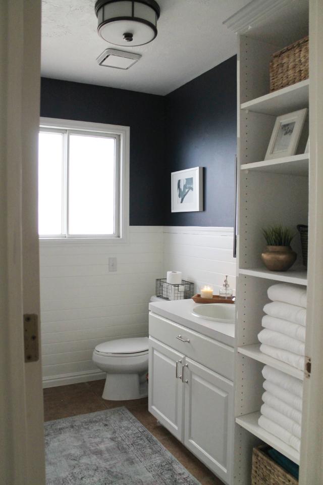 Blue Half Bathroom: Navy Bathroom, Navy