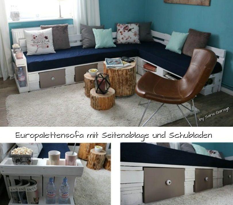 europalettensofa epal sofa aus europaletten pallets home living m bel furniture diy. Black Bedroom Furniture Sets. Home Design Ideas