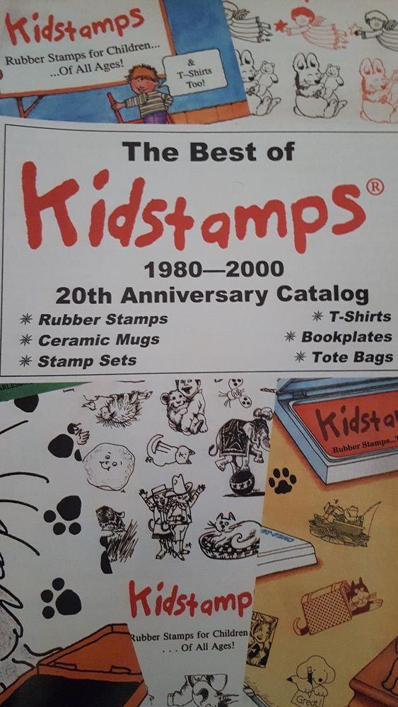 KIDSTAMPS rubber stamp CATALOG FROM 2000 #Kidstamps