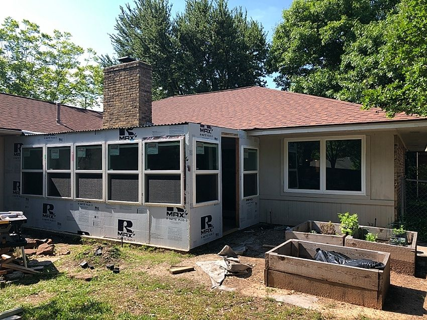 {DIY Sunroom} How to Convert a Porch to a Sunroom