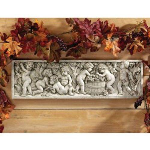 """21""""w 18th Century Italian Replica Bacchus Wine Wall Sculpture Statue Decor"""