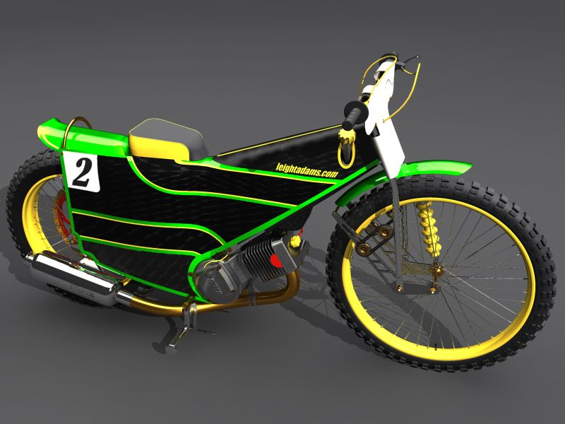 Speedway Motorcycle Racing Bikes: My Speedway Bike Render 1