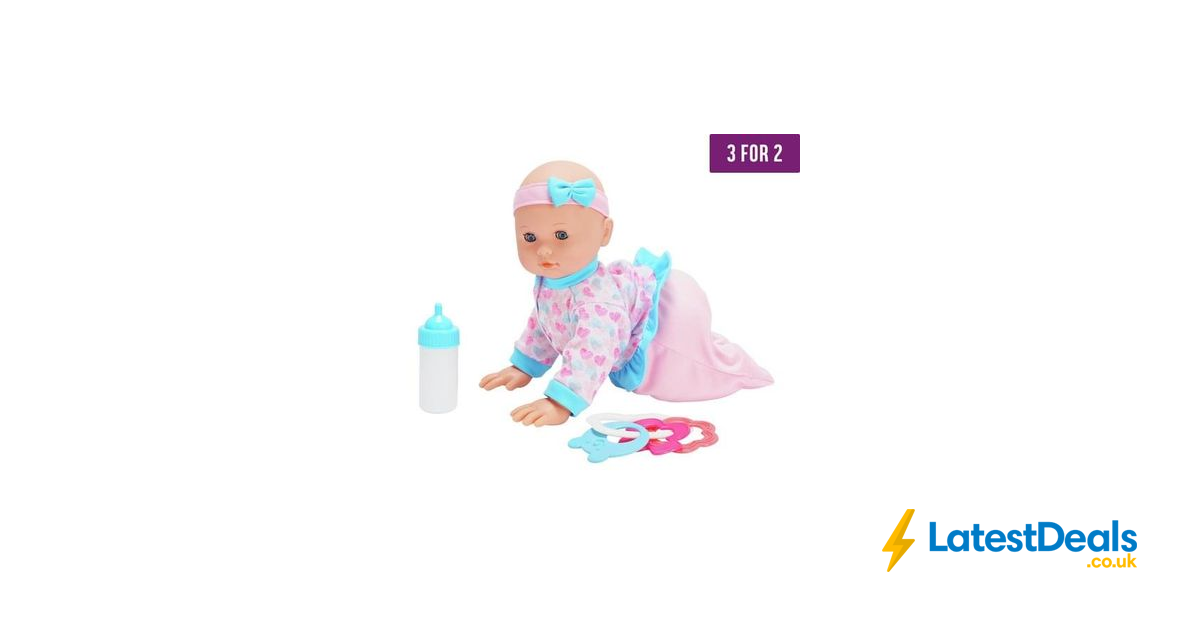 Chad Valley Babies to Love Crawling Doll Save £9 & 3 for