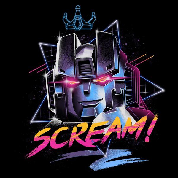 Neon Infused 80 S Classic Design Of Starscream Arte Retro Arte De Ilustracion Scream