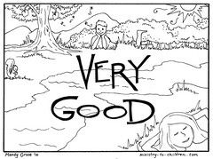 Creation Coloring Pages Day 7 God Rested It Was Very Good