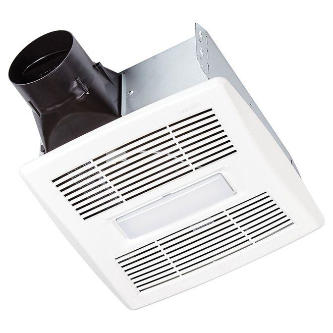 Broan Bathroom Fan Light Invent Series 90 Cfm Aer90lc Rona Fan Light Bathroom Fan