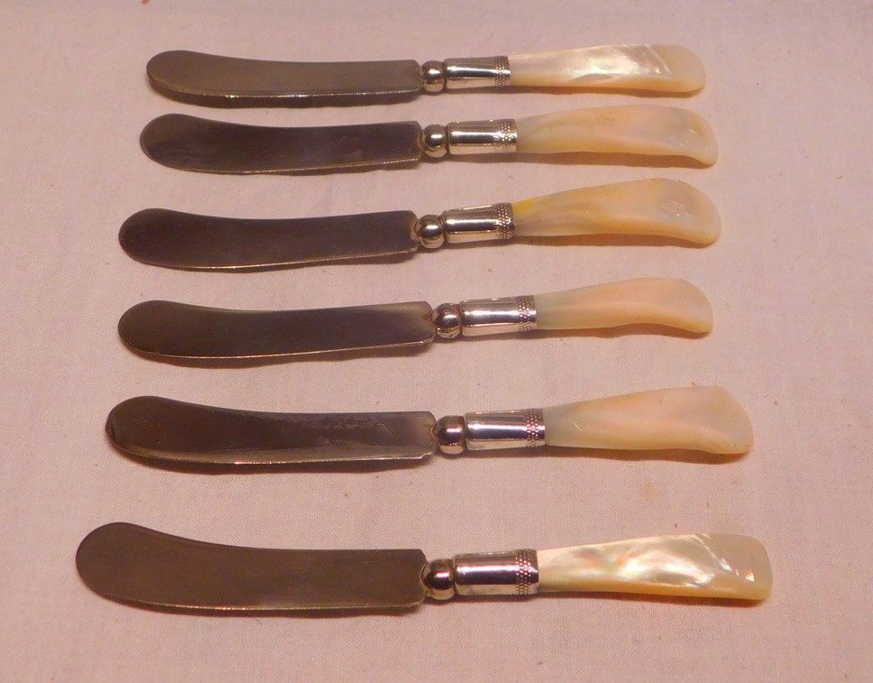 Mother Of Pearl Er And Cheese Knives Set Six