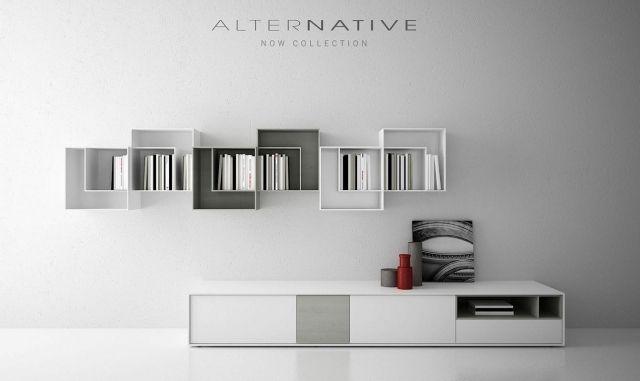 Sideboard regal weiss grau minimalistisch mobil fresno now